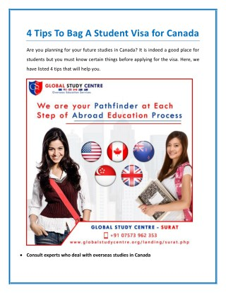 Tips To Bag A Student Visa for Canada