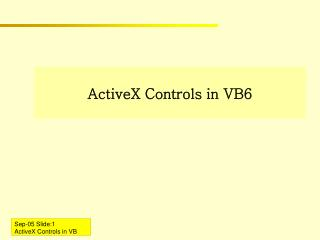 ActiveX Controls in VB6