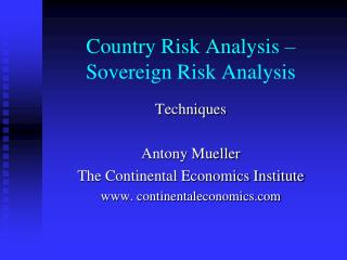 Country Risk Analysis   Sovereign Risk Analysis