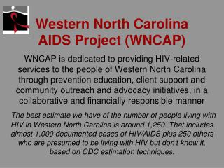 Western North Carolina AIDS Project WNCAP