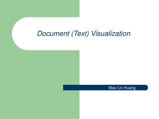 Document Text Visualization