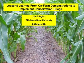Lessons Learned From On-Farm Demonstrations to Implement Conservation Tillage