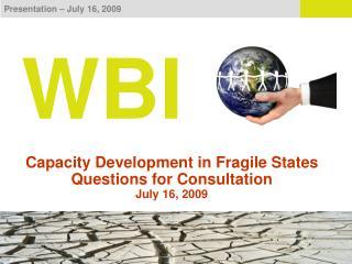 Presentation   July 16, 2009