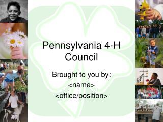 Pennsylvania 4-H Council