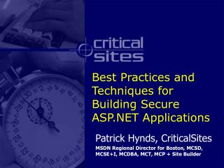 Best Practices and Techniques for Building Secure ASP Applications