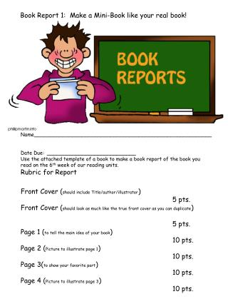 Book Report 1:  Make a Mini-Book like your real book