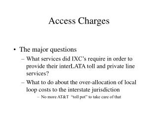Access Charges