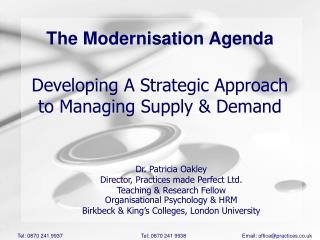 Developing A Strategic Approach to Managing Supply  Demand