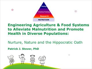 Engineering Agriculture  Food Systems to Alleviate Malnutrition and Promote Health in Diverse Populations:   Nurture, Na
