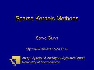 Sparse Kernels Methods