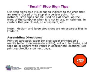 Small  Stop Sign Tips