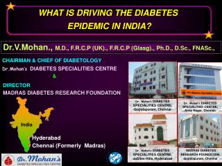 WHAT IS DRIVING THE DIABETES  EPIDEMIC IN INDIA