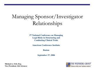 Managing Sponsor