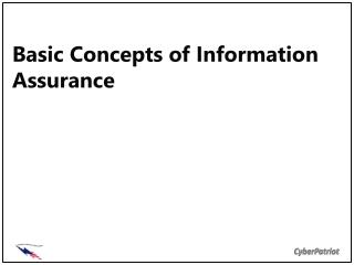 Basic Concepts of Information Assurance