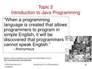 Topic 2 Introduction to Java Programming