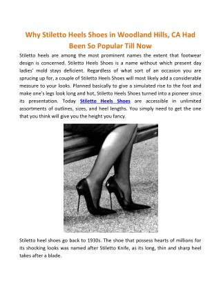 Stiletto Heels Shoes | ShopLexxa