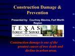 Construction Damage  Prevention