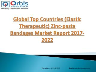 2017 Global (Elastic Therapeutic) Zinc-paste Bandages Market to Register Substantial Expansion by 2022 in Top Countries