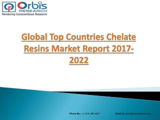 2017 Global Chelate Resins Market Leading Companies will have the Highest Market Share by 2022