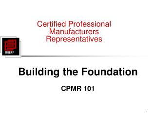 Certified Professional Manufacturers Representatives