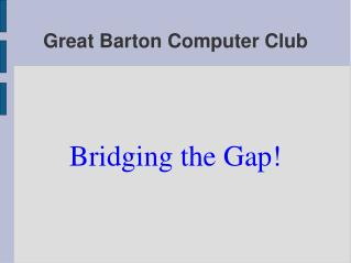 Great Barton Computer Club