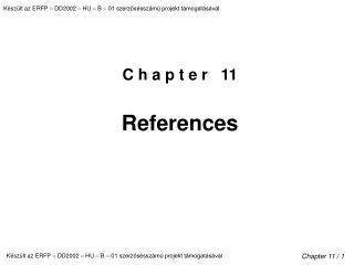 C h a p t e r   11  References