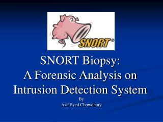 SNORT Biopsy: A Forensic Analysis on Intrusion Detection System