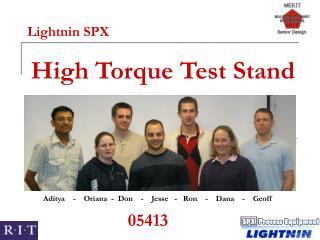 High Torque Test Stand