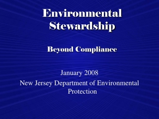 New Jersey Regulations on Lead Safe Work Practices