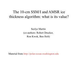The 10-cm SSM