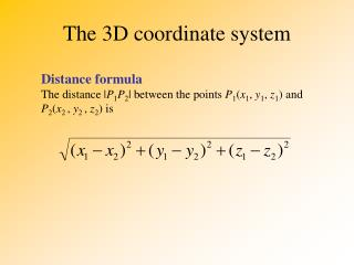 The 3D coordinate system