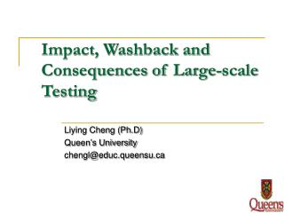 Impact, Washback and Consequences of Large-scale Testing