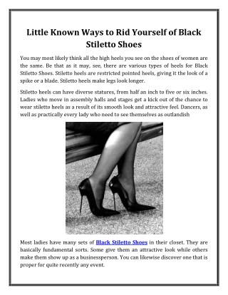 Black Stiletto Shoes | Shop Lexxa