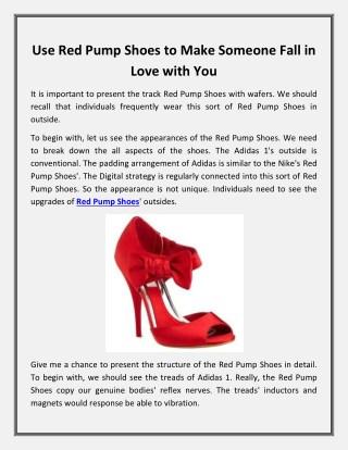 Red Pump Shoes | Shop Lexxa