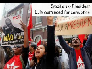 Brazil's ex-president Silva sentenced to 10 years in prison for corruption