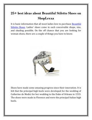 Beautiful Stiletto Shoes | Shop Lexxa