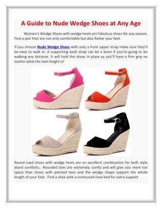 Nude Wedge Shoes | ShopLexxa