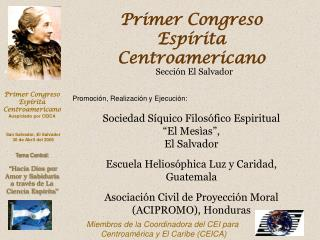 Primer Congreso Esp rita Centroamericano