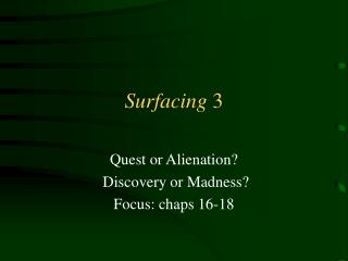 Surfacing 3