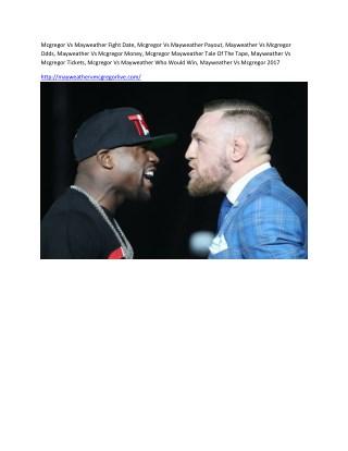Mcgregor vs mayweather fight date