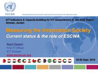 Measuring the Information Society Current status  the role of ESCWA