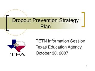 Dropout Prevention Strategy Plan