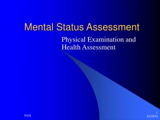 Mental Status Assessment