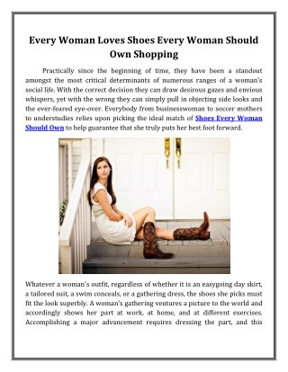 Every Woman Loves Shoes Every Woman Should Own Shopping