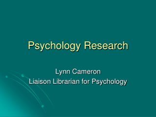 Psychology Research