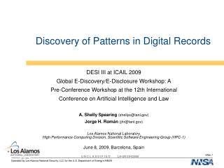 Discovery of Patterns in Digital Records