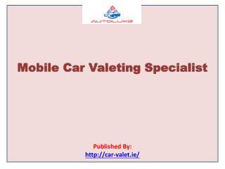 Mobile Car Valeting Specialist