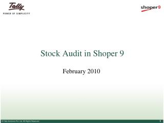 Stock Audit in Shoper 9
