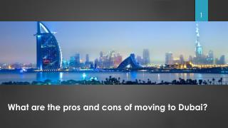 What are the pros and cons of moving to Dubai ?