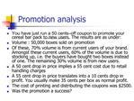 Promotion analysis